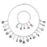 Advent Calendar Christmas Charm, Bracelet & Necklace Set