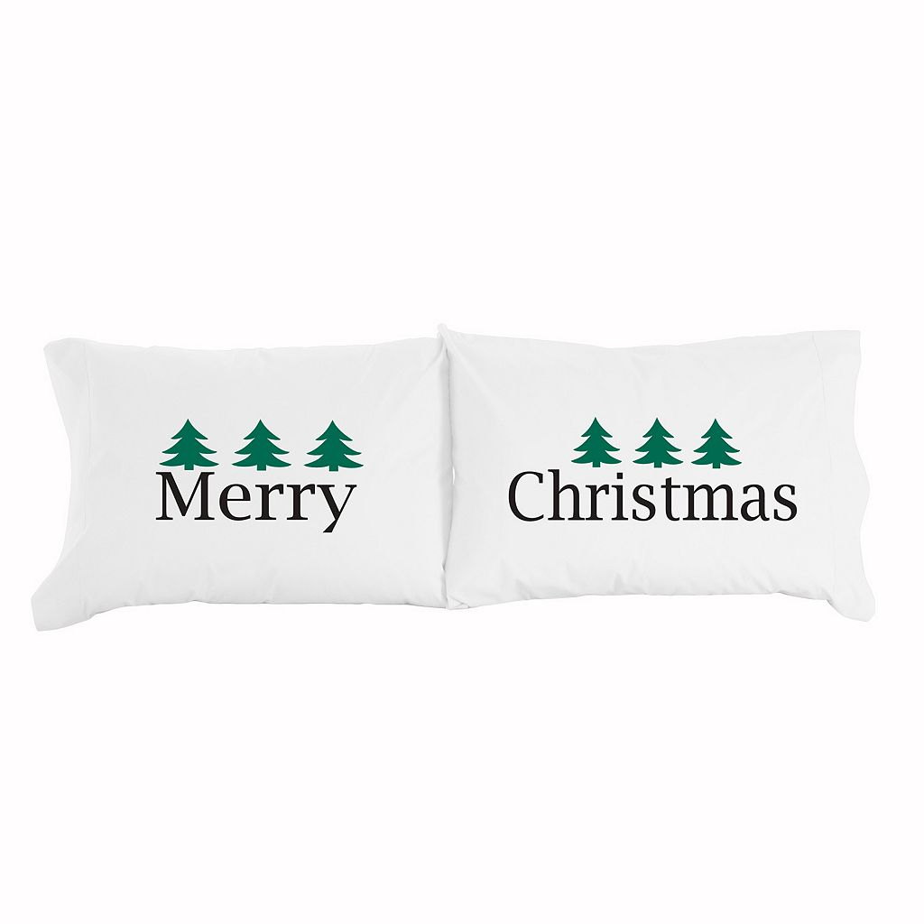 Micro Flannel® 2-pack ''Merry Christmas'' Novelty Pillowcase Set