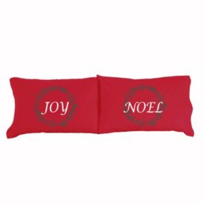 Micro Flannel® 2-pack Joy & Noel Christmas Pillowcase Set