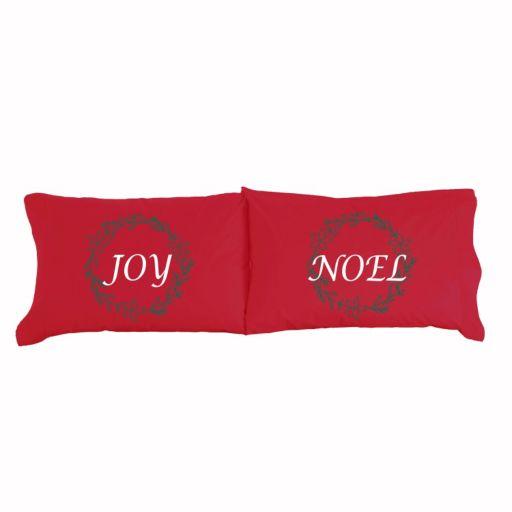 Micro Flannel® 2-pack Joy & Noel Christmas Pillowcase Set