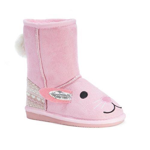 MUK LUKS Bunny Kids' Plush Boots