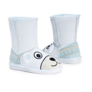 MUK LUKS Snowball Polar Bear Kids' Plush Boots