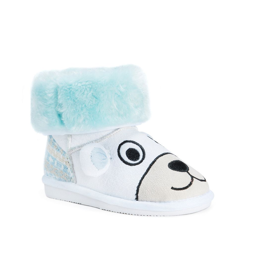 MUK LUKS Snowball Polar Bear Kids' Plush Boots