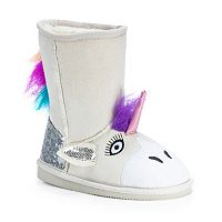 MUK LUKS Luna Unicorn Kids' Plush Boots