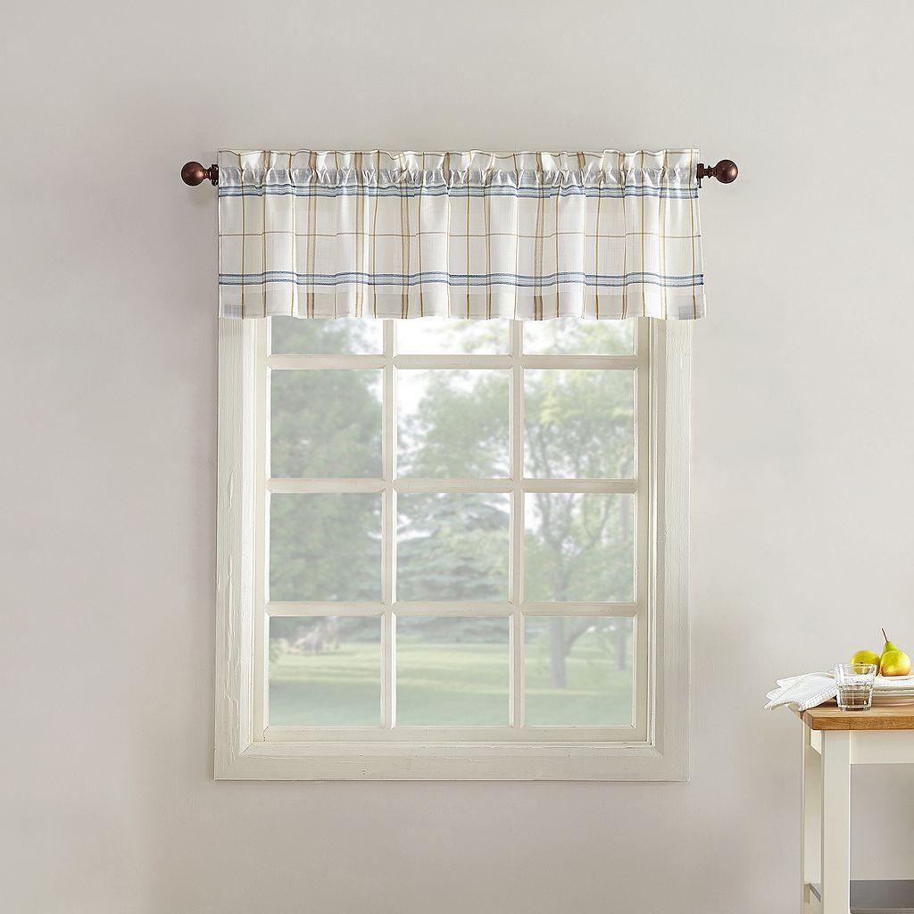 Top of the Window Monroe Plaid Light Filtering Valance - 54'' x 14''