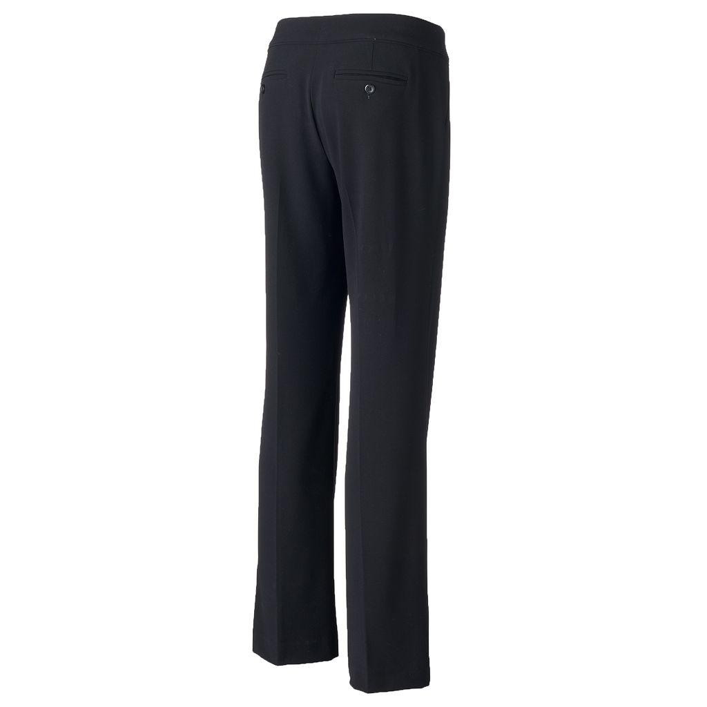 Women's Apt. 9® Piped Straight-Leg Dress Pants