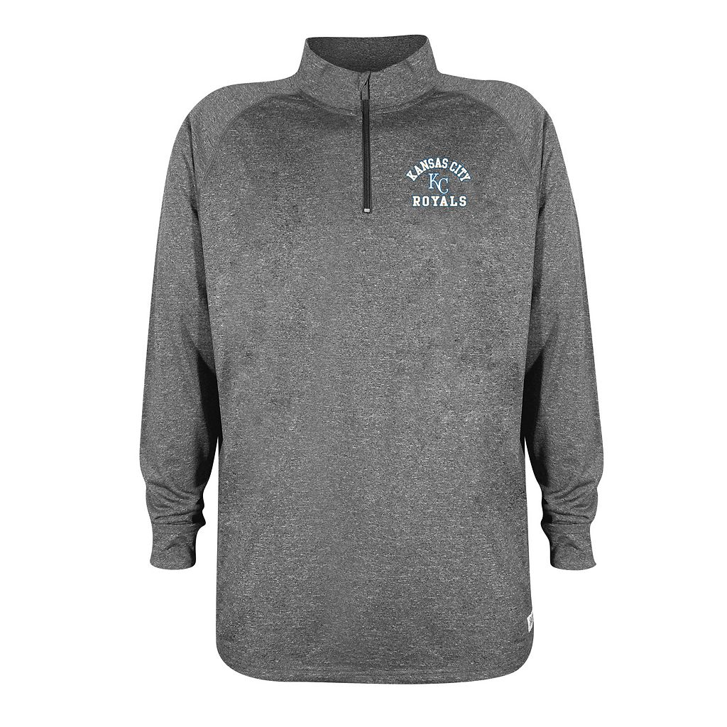 Men's Stitches Kansas City Royals Charcoal Fleece Pullover