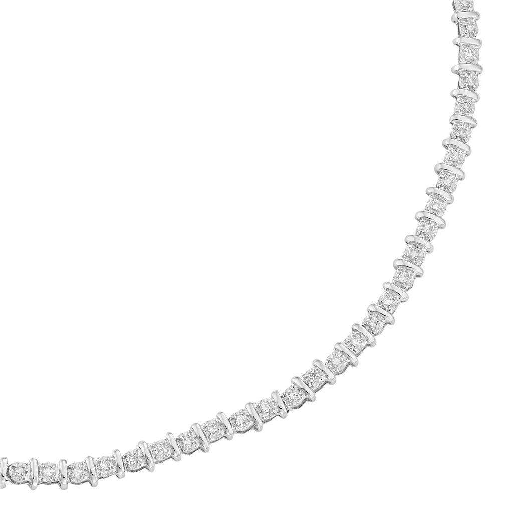 10k Gold 1/2 Carat T.W. Diamond Tennis Bracelet