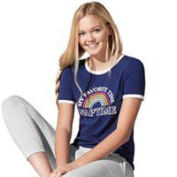 Juniors' SO® Pajamas: Beach Squad Ringer Tee