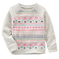 Girls 4-8 OshKosh B'gosh® Geometric French Terry Sweatshirt