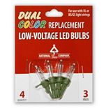 National Tree Company Dual Color LED Replacement Bulbs Blister Pack
