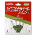 National Tree Company Warm White LED Replacement Bulbs Blister Pack