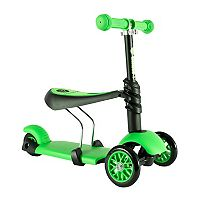 Kids Yvolution Green Y Glider 3 in 1 Scooter