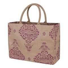KAF HOME Medallion Jute Tote Bag