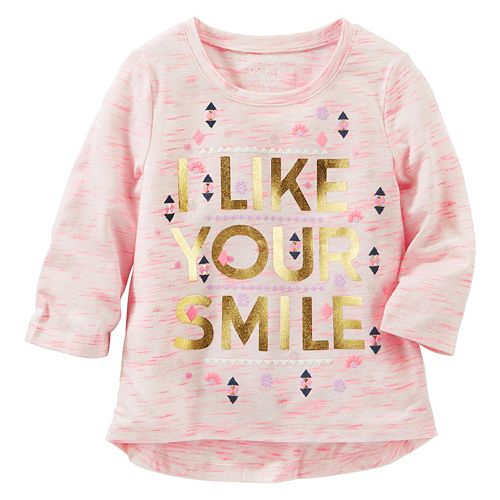 "Girls 4-8 OshKosh B'gosh® ""Free Hugs"" Space-Dye Tee"