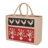 KAF HOME French Market Jute Tote Bag
