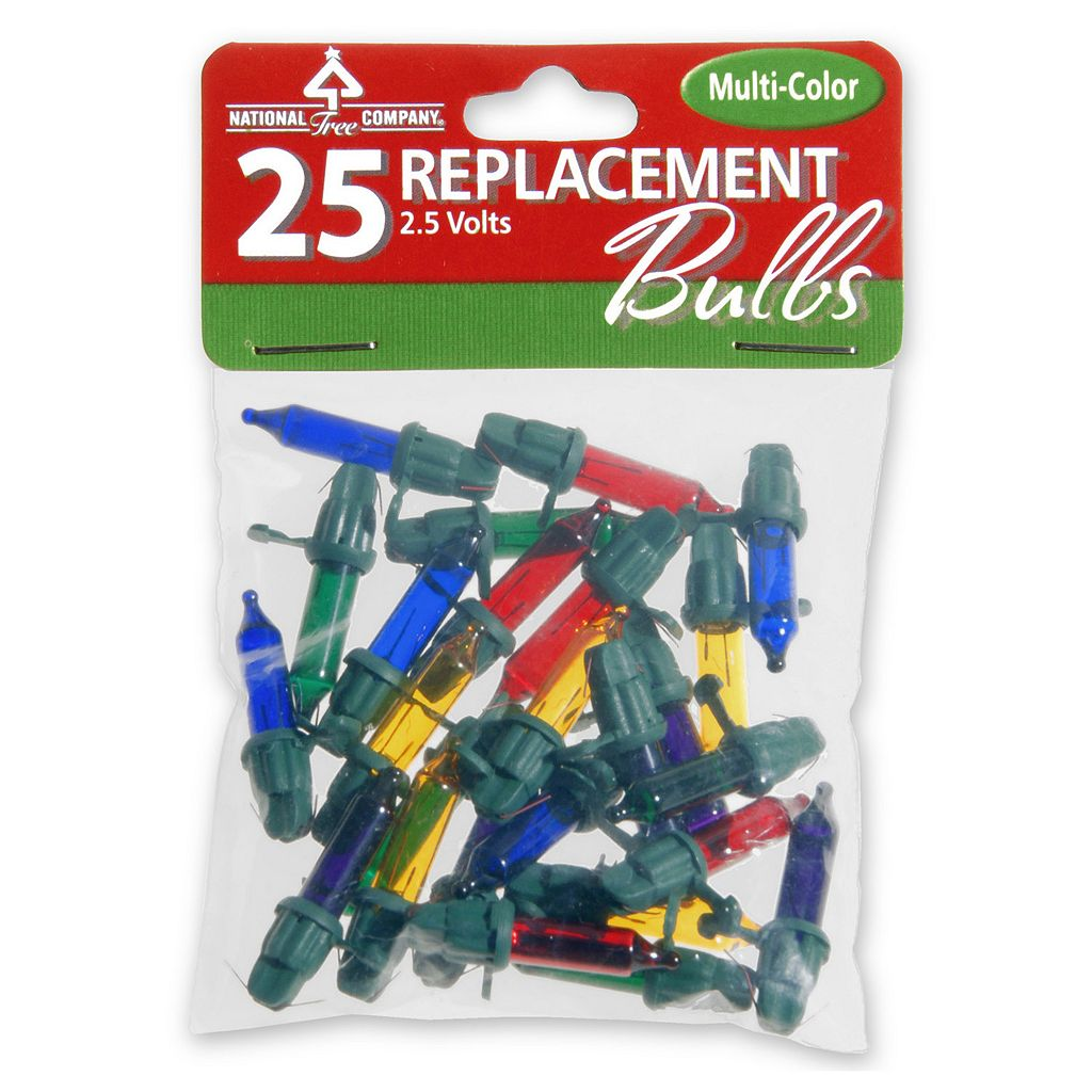 National Tree Company 25 Multicolor Replacement String Light Bulbs