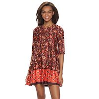 Juniors' About A Girl Graphic Swing Dress