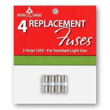 National Tree Company 4-pk. 3A / 120V Replacement Light Fuses