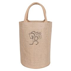 KAF HOME Rooster Jute Bucket Bag