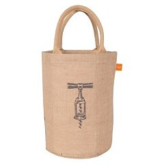 KAF HOME Corkscrew Jute Bucket Bag