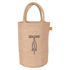 KAF HOME Corkscrew Jute Bucket Bag