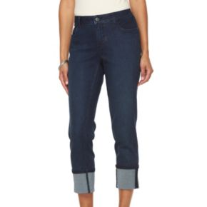 Women's Croft & Barrow® Cuffed Crop Jeans