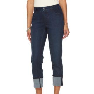 Women's Croft & Barrow® Cuffed Crop Jeans