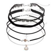 Cross, Lace & Velvet Choker Necklace Set