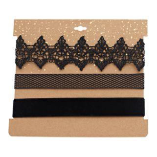 Lace & Velvet Choker Necklace Set
