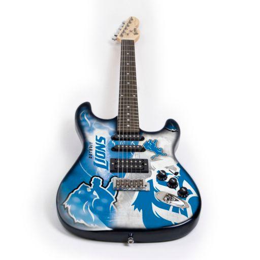Detroit Lions NorthEnder Collector Series Mini Replica Electric Guitar