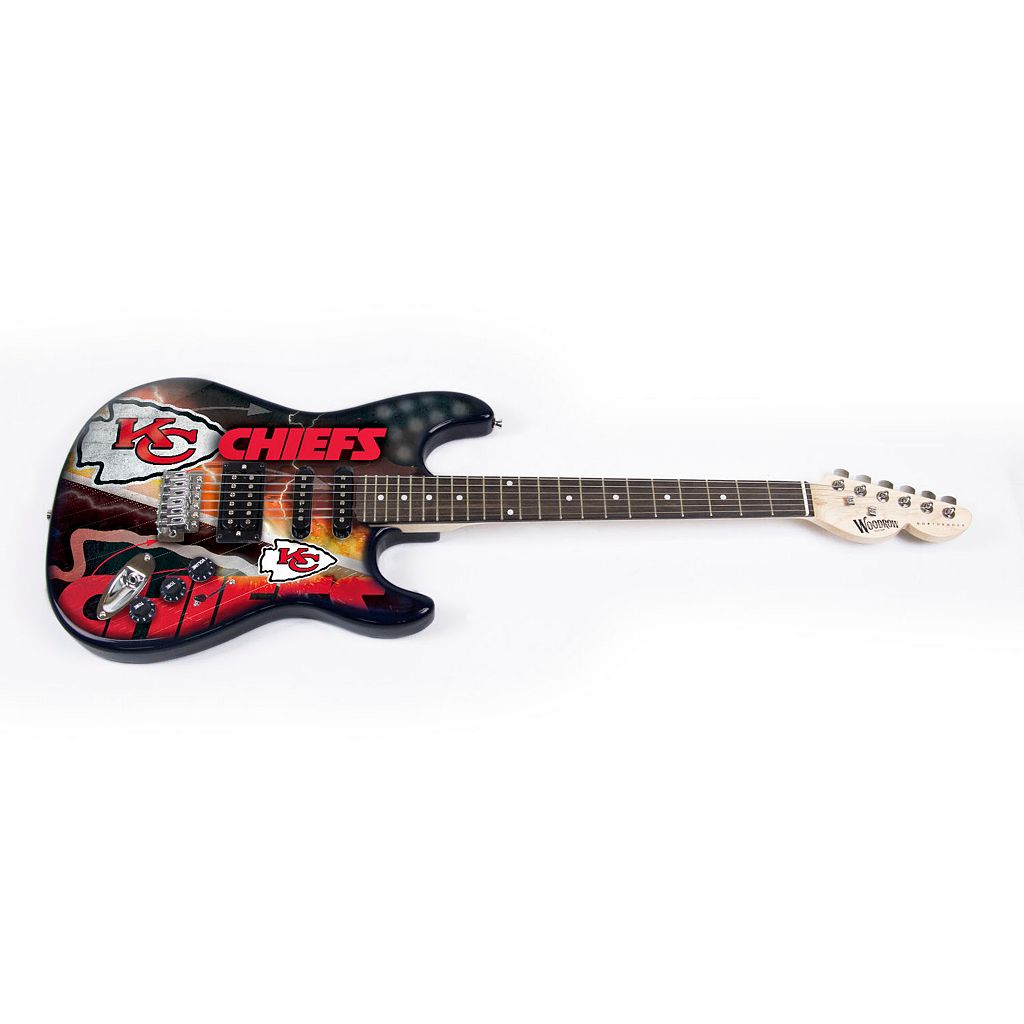 Kansas City Chiefs NorthEnder Collector Series Mini Replica Electric Guitar