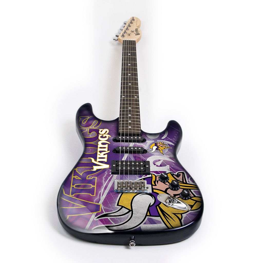 Minnesota Vikings NorthEnder Collector Series Mini Replica Electric Guitar