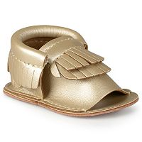 Journee Heidi Baby Girls' Open-Toe Moccasins
