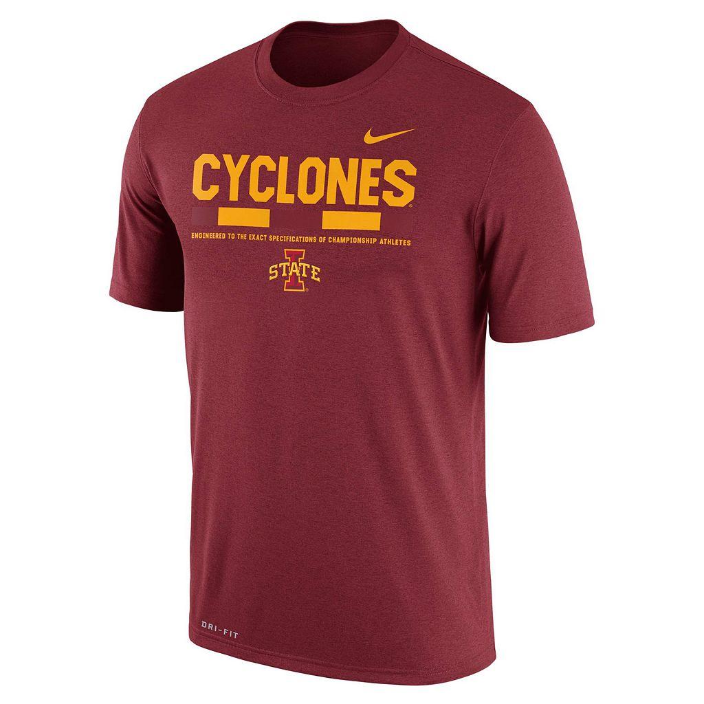 Men's Nike Iowa State Cyclones Legend Staff Dri-Fit Tee