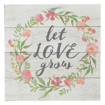 Belle Maison ''Let Love Grow'' Box Sign Art