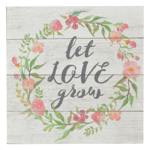 Belle Maison ''Let Love Grow'' Box Sign Art