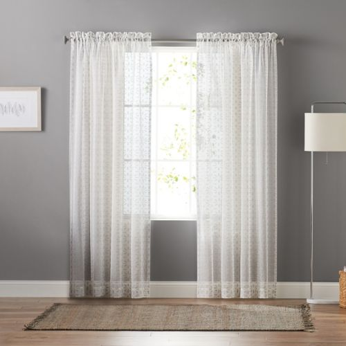 goods for life™ ditzy clip sheer curtain