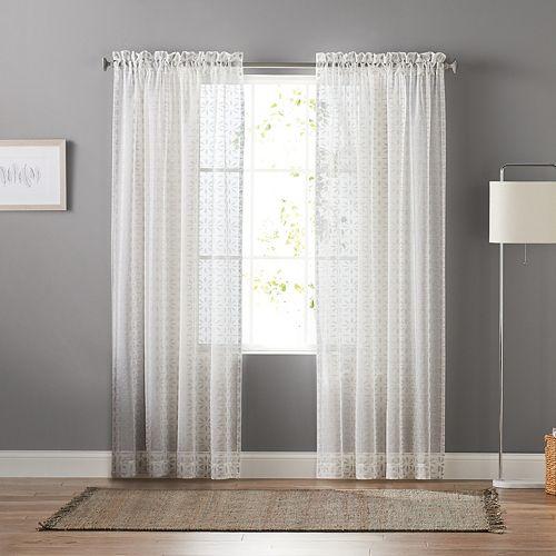 Sheers Curtains & Drapes - Window Treatments, Home Decor   Kohl's