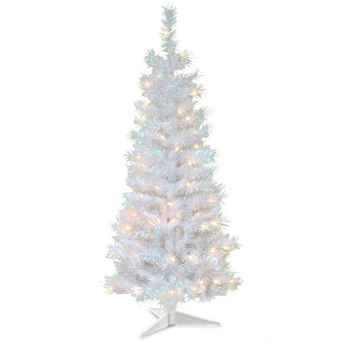 Pre Lit Christmas Tree Fuses: National Tree Company 4-ft. Pre-Lit Tinsel Artificial