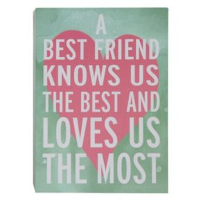 "Belle Maison ""A Best Friend"" Box Sign Art"