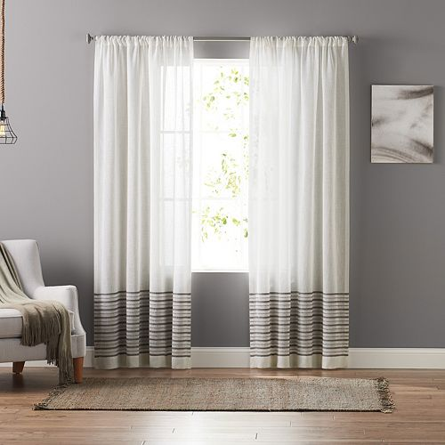 SONOMA Goods for Life™ Stephanie Stripe Sheer Curtain