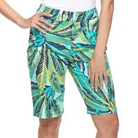 Women's Caribbean Joe Tropical Print Bermuda Shorts