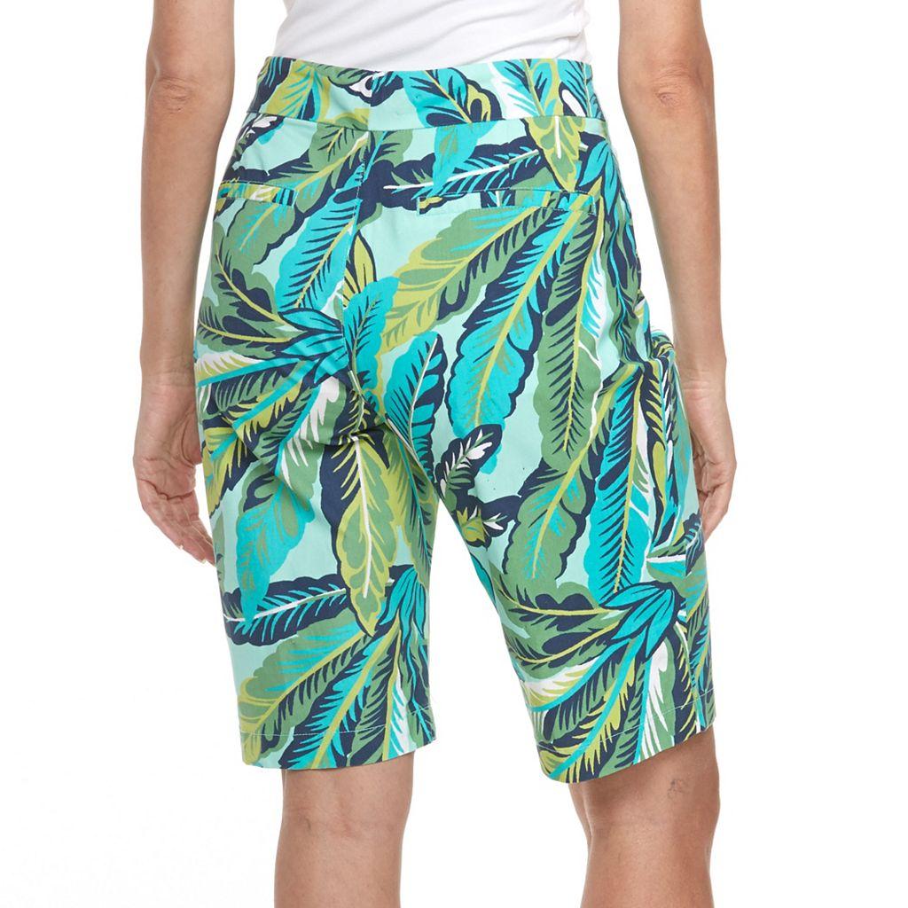 Women's Caribbean Joe Tropical Print Bermuda Shorts