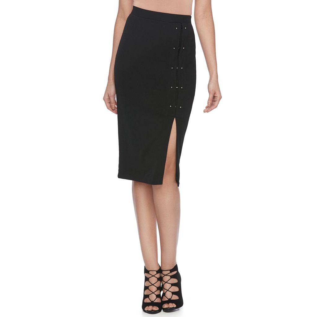 Women's Jennifer Lopez Studded Pencil Skirt