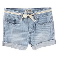Girls 4-8 OshKosh B'gosh® Hickory Stripe Cuffed Shorts