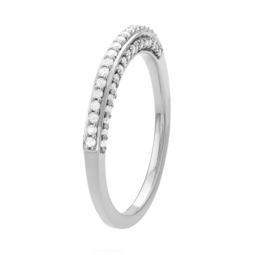 Sterling Silver 1/3 Carat T.W. Diamond Wedding Ring