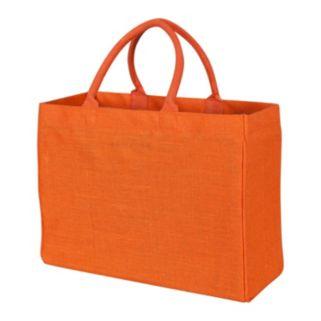 KAF HOME Solid Jute Tote Bag