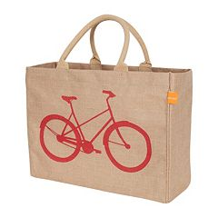 KAF HOME Bicycle Jute Tote Bag