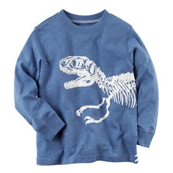 Baby Boy Carter's Long Sleeve Dinosaur Wrap-Around Graphic Tee